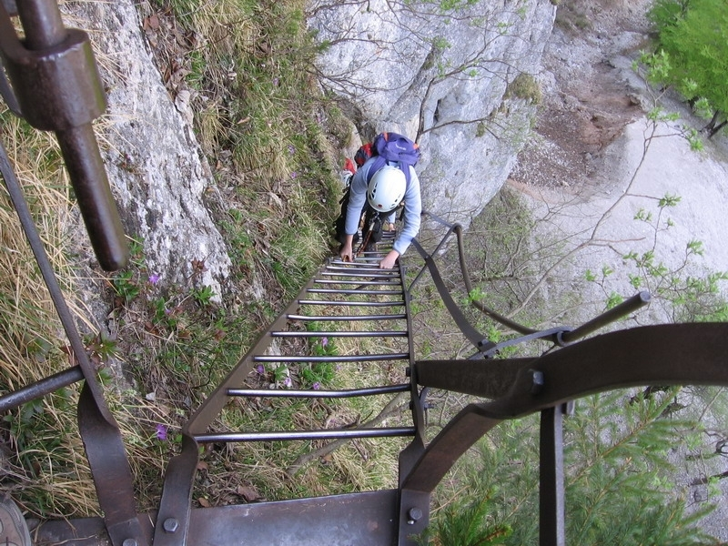 Klettersteig Rax : Rax klettersteig kezdőknek
